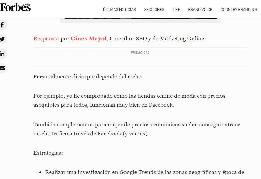 gines mayol forbes mexico